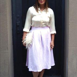 Zara lavender midi skirt